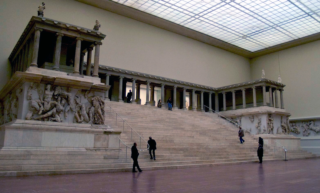 Image result for great altar of zeus and athena at pergamon